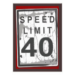 40th Birthday Party Grungy Speed Limit Sign