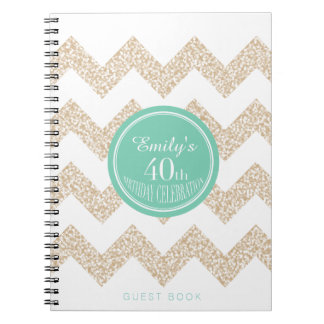 40th Birthday Party Guest Book Choose Color