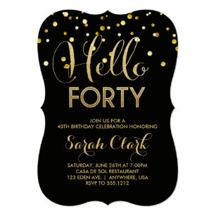 40th Birthday Invitations Announcements Zazzlecomau