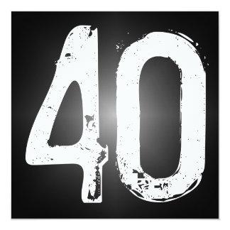 40th Birthday Party Invitation