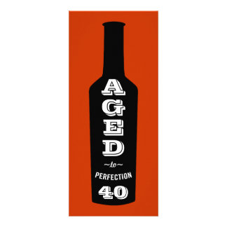 40th Birthday Party Invitation Aged to Perfection