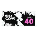 40th Birthday Party Invitation - Holy Cow!