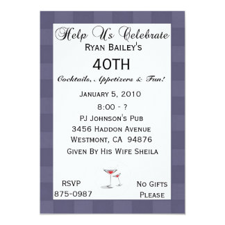 40th Birthday Party Personalized Invitation