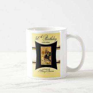 40th Birthday Party Souvenier/Favor Basic White Mug