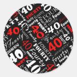 40th Birthday Party Sticker