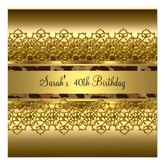 Images Of 30th Birthday Party Royal Red Gold Jewel Custom Invites From ...