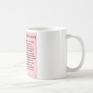40th Birthday - Sister Poem Basic White Mug