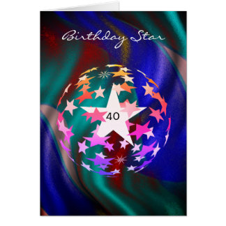40th Birthday Star (add Photograph) Card