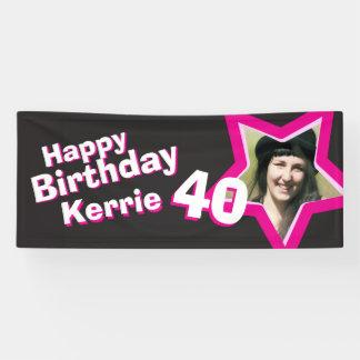40th birthday star custom photo banner