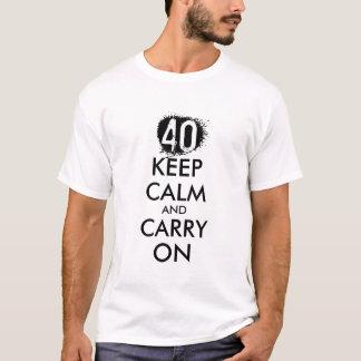40th Birthday t shirt for men | Keep calm humor
