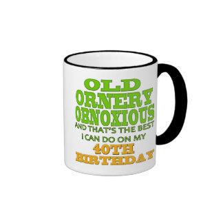 40th Birthday T-shirts and Gifts Ringer Mug