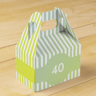 40th Birthday Template Party Favour Box