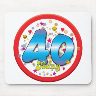 40th Birthday Today Mousemat