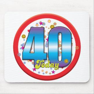 40th Birthday Today v2 Mousemats