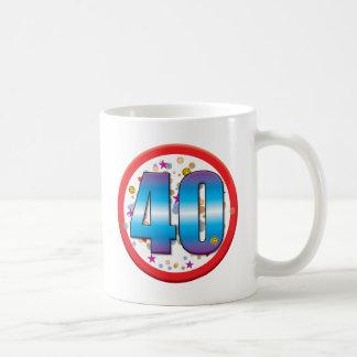 40th Birthday v2 Mugs