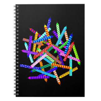 40th Birthday with Candles Spiral Notebook