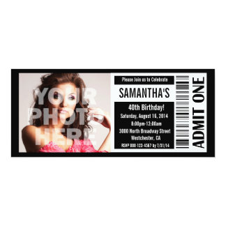 40th Black and White Ticket Card