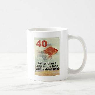 40th coffee mug