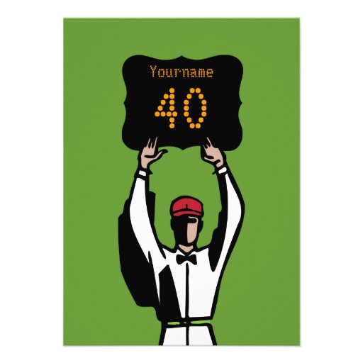 40th Football Birthday Party Invitation - Official