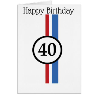 40th Herbie Birthday Card