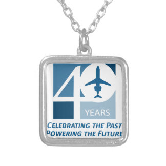 40th Logo Clothing Silver Plated Necklace