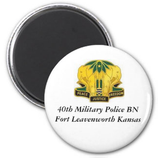 40th MP BN  Olmo, 40th Military Police BN Fort ... 6 Cm Round Magnet