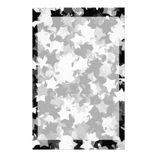 40th Party Black and White Kawaii Stars Customised Stationery