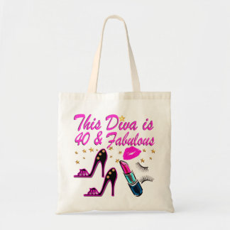 40TH PARTY DIVA TOTE BAG
