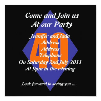 40th party invitation template