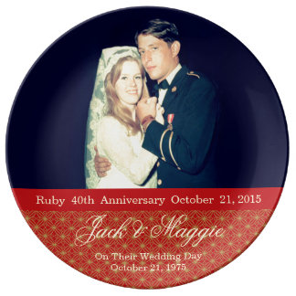 40th Ruby Anniversary | Commemorative Plate