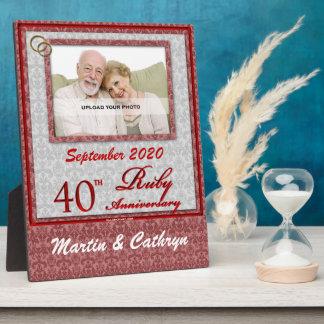 40th Ruby Anniversary Photo Plaque