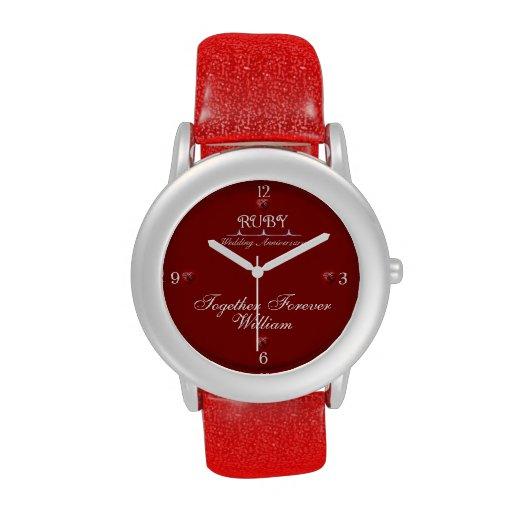 40th Ruby Wedding Anniversary Custom Watch