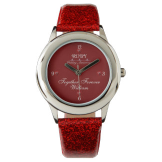 40th Ruby Wedding Anniversary Custom Watch