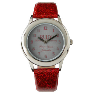 40th Ruby Wedding Annivsersary Custom Watch