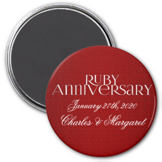40th Ruby Wedding Annivsersary Magnet