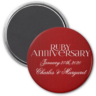 40th Ruby Wedding Annivsersary Magnet