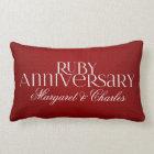 40th Ruby Wedding Annivsersary  Photo Lumbar Cushion