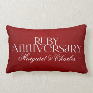 40th Ruby Wedding Annivsersary  Photo Lumbar Cushion