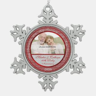 40th Ruby Wedding Annivsersary   Photo Ornament