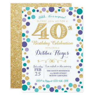 40th Surprise Birthday Party Invitation