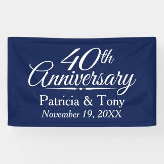 40th Wedding Anniversary - CAN EDIT COLOR custom