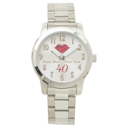 40th Wedding Anniversary Gifts For Wife: 40th Wedding Anniversary Gifts For Wife Or Husband Watch