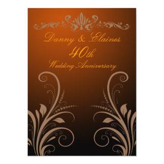 40th Wedding Anniversary invite