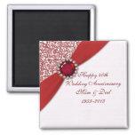 40th Wedding Anniversary Magnet