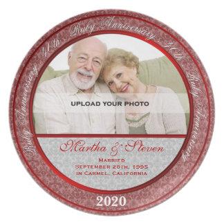 40th Wedding Anniversary Photo Plate