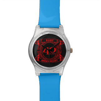 40th wedding anniversary ruby crest watch