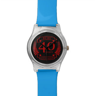 40th Wedding ANNIVERSARY RUBY Wristwatches