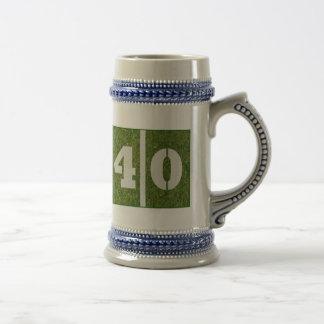 40th Yard Football Birthday Stein Beer Steins