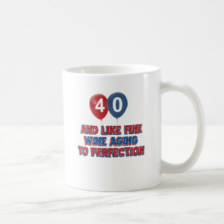 40th year old birthday designs basic white mug