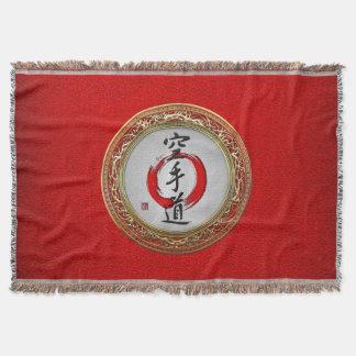 [410] Japanese calligraphy - Karate-do Throw Blanket